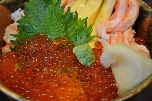 Salmon roe bowl